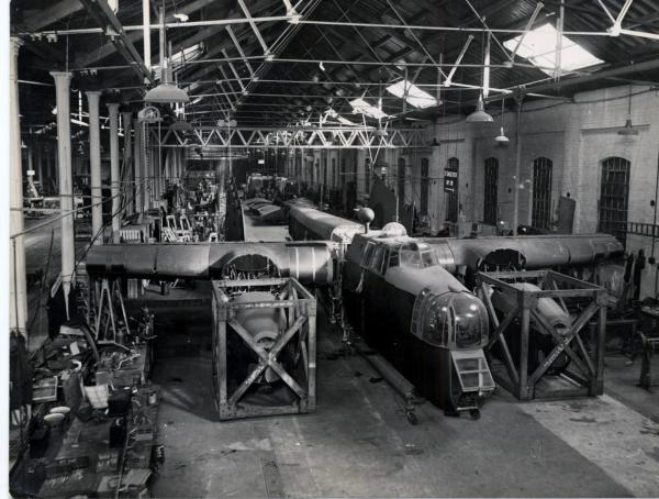 1941 last whitley bomber to be repaired showing1942 engine packed in crate Phil Marsh collection2